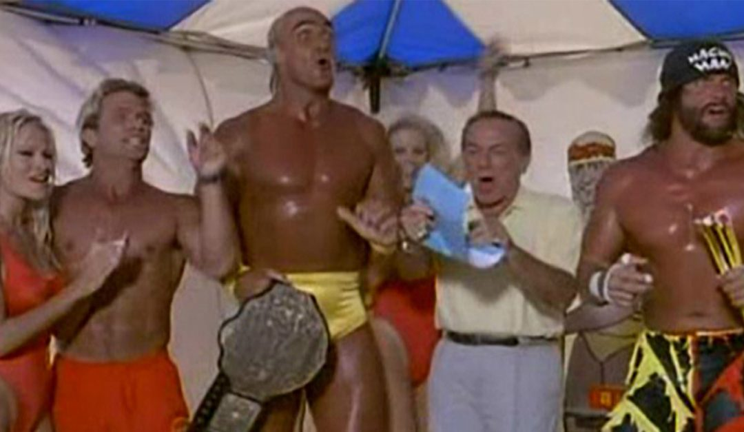 Hogan, Savage, Flair And Vader Take Over Baywatch For A Rowdy WCW 'Bash At The Beach'