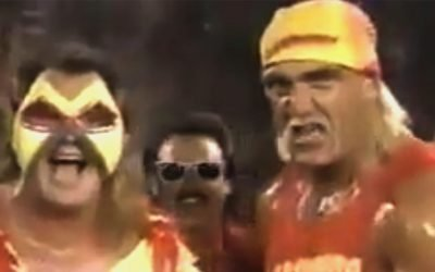 The Hulkster Returns To Form The Mega Maniacs With Jimmy Hart And Brutus The Barber