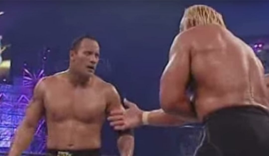 Hollywood Hogan's Infamous Showdown Against The Rock – WrestleManiaX8 Battle Royale