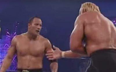 Hollywood Hogan's Infamous Showdown Against The Rock – WrestleManiaX8 Battle Royale