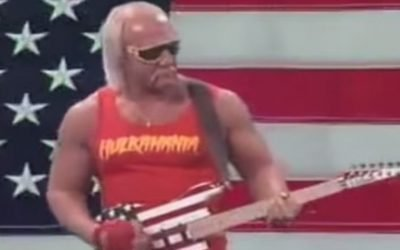Hulkster Turns The Amp To 11 And Celebrates With An Iconic Real American Tribute!