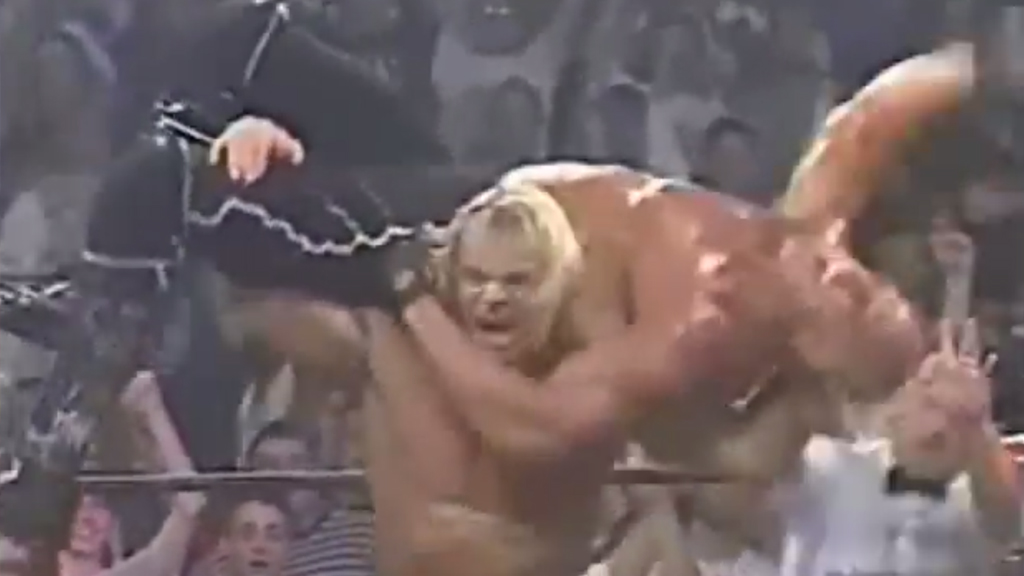 Lex Luger submits Hollywood Hogan to win the WCW Gold!